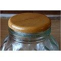 top lid jar wooden