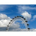 londoneye wheel london clouds