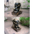 THIS UNUSUAL SCUPTURE IS LOCATED JUST OUTSIDE THE CASTLE OF PRAGUE ON THE WAY DOWNHILL TO THE SAI...