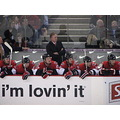 The sens players watch their team mates playing