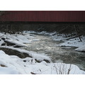 McConnells Mill Dam Waterfall Ice Snow