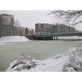 bremen winter snow weser