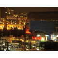 Night scene ships lights False Creek