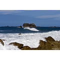 Sea Waves Rocks Blue Bretagne