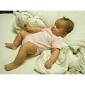 relaxing baby gilr pink bed