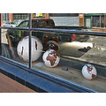 window reflections reflectionthursday truck globe globes oaklandartfph