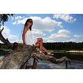 girl woman wife portrait nature lake strobist sb600 nikon sigma bulgaria