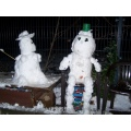 man snow snowman nude erotic