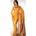 Light Brown Viscose Saree with Blouse