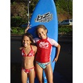 This is Canaelle and Malyana !! The  surf champions of Polynesia !