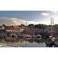 Padstow harbour and quayside Cornwall