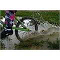 bike bmx wheel splash water