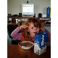 Iceland Valdis Breakfast milk cornflakes girl smile fun