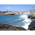dubrovnik kroatia sea adriatic blue oldtown waves harbour