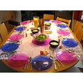 table in preparation for lunch