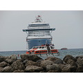 eastern caribbean cruise princess cays ship lifeboat tender rocks