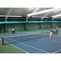 At 4:59pm.At Mayfair-Tennis-A Tennis instructer(left) giving lessons to a student-On Lakeshore Bl...