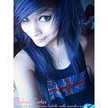 emo scene hair model famous chica emo style queen hair purple blue and black
