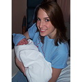 Me and Nathan the day he was born, look at that sweet smile! I tell myself that he was smiling be...