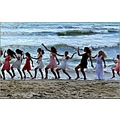 nature girls sea dance water