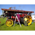 traction engine man at work