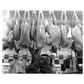 man butcher dead chicken chickens poultry butchers meat food