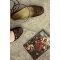 diary book shoes floor foot