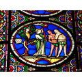 stained glass window adam and eve serpent