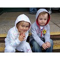 kids cool rain day young boy girl friends