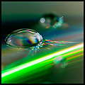 compact disc cd water drop droplet closeup macro