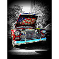 1955 Chevy Chevrolet Bel Air American Flag