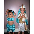 my son and daughter in the fancy dress outfits annie ann made