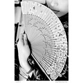 china lady girl portrait foldingfan oriental