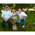 brothers at graveside dads wish