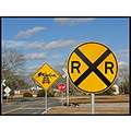 countryroad railroad track warningsigns