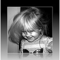 girl portrait bw happy messing