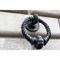 steel door knocker black