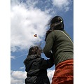 Caroline and our daughter at Cofton Park today. Ideal conditions for flying the kite... !