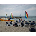 eastern caribbean cruise princess cays ship beach chairs sailboats