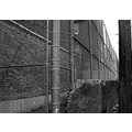 fence blackwhite chainlink wall
