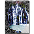 Burney Water Falls Northern California Siskiyou County Blue Silk