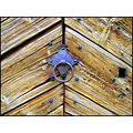 medieval church door wood lines surface angles iron ring keyhole old