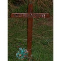 I didn't think they had wooden crosses for gravestone's anymore.