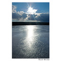 lake water nature landscape sun sunset ice blue