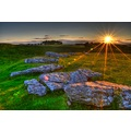 Peak District Derbyshire Arboe Low Stone Circle Sunset