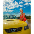 Girl Car Yellow Sky Blonde highway Road blue cool lady nice girl fun