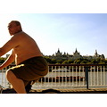 man cyclist halfnaked london thames summer fat