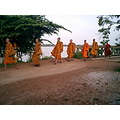 monks Laos orange line