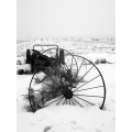 Old machinery on the edge of a field...or the edge of the world.