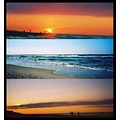 sea landscape sunset water people holidays evening sky clouds beach sand sun